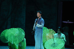 Listen to the rain get inspiration-The second act of dance drama-Shawan events of the past Stock Photos