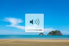 Listen to the sounds of nature. Royalty Free Stock Image