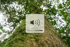 Listen to the sounds of nature. Volume up for listen to the sounds of nature Royalty Free Stock Photography