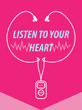 Listen To Your Heart Illustration Stock Photo