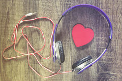 Listen to your heart. Love music concept Stock Images