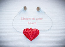 Listen to your heart Stock Photography