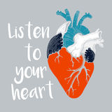 Listen to your heart Stock Images