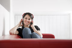 Listenin to music Royalty Free Stock Photo