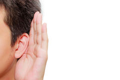 Listening Royalty Free Stock Photography