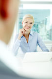 Listening attentively Royalty Free Stock Photo