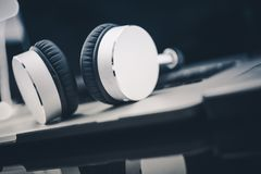 Listening Audiobooks Concept stock images
