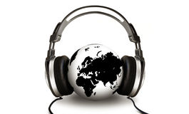 Listening Globe stock illustration