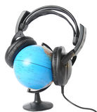 Listening globe Stock Photo