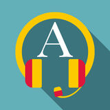 Listening icon, flat style. Listening icon. Flat illustration of listening vector icon for web Royalty Free Stock Photo