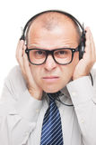 Listening loud music Stock Image