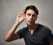 Listening man. Stock Photography