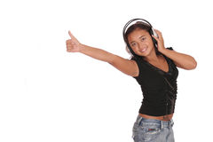 listening musi woman стоковые фото