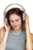 listening music 免版税库存照片