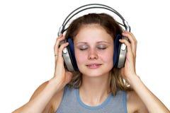 listening music 库存图片