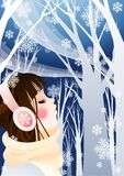 LISTENING MUSIC Royalty Free Stock Photography