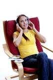 Listening The Music Royalty Free Stock Photos
