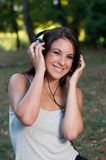 Listening music Stock Photos