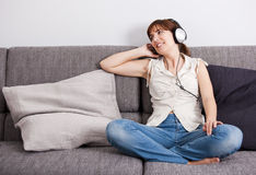Listening music Stock Image