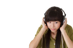 Listening music Royalty Free Stock Images