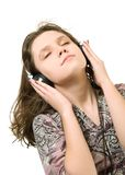 Listening music Royalty Free Stock Photo