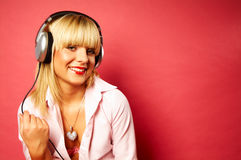 Listening music 2 Royalty Free Stock Photos