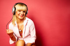Listening music 2 Royalty Free Stock Photos