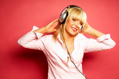 Listening music 2 Stock Image