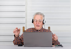 Listening music Stock Image