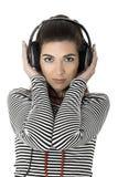 Listening music Stock Photos