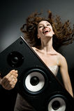 listening music Στοκ Εικόνες