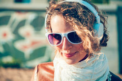 Listening music Stock Photography
