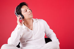 Listening music at home Royalty Free Stock Photography