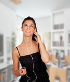 Listening music at home Royalty Free Stock Images