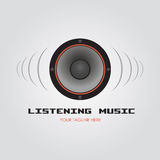 Listening Music stock illustration