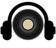 listening music to διανυσματική απεικόνιση