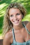 Listening music - woman portrait Royalty Free Stock Photo