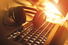 Listening Music While Working royalty free stock image