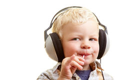 Listening and nibbling Royalty Free Stock Images