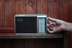 Listening Radio Stock Image