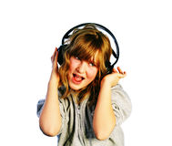 Listening and Singing Stock Images