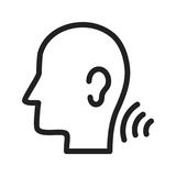 Listening Skills. Listening, skills, understand icon vector image. Can also be used for soft skills. Suitable for mobile apps, web apps and print media Royalty Free Stock Photography