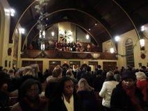 Listening to Alleluia-Christmas Eve Mass Stock Photos