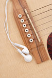 Listening To Classic Guitar Royalty Free Stock Images