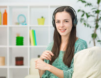 Listening to good music Stock Image
