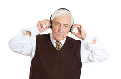 Listening to headphones Stock Photos