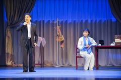 Listening to his stories-Jiangxi OperaBlue coat Stock Photos