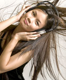 Listening to the hits Stock Image