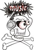 Listening to loud music - skull Stock Images