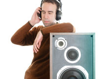 Listening To Music Stock Photography